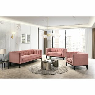 Burnett 3 Piece Living Room Set by Everly Quinn
