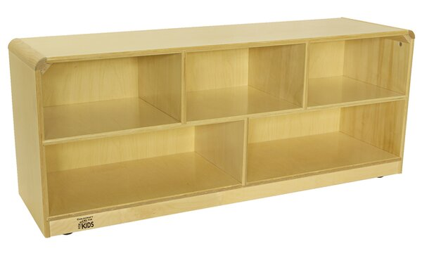 5 Compartment Shelving Unit with Casters by Korners for Kids