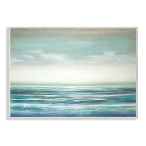 'Blue Ocean Sunset' Print by Highland Dunes