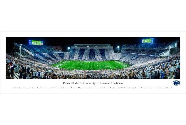 NCAA Penn State University - Stripe by Robert Pettit Photographic Print by Blakeway Worldwide Panoramas, Inc
