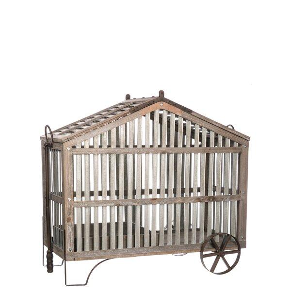 Loewen Wheeled Planter Decorative Bird House by Gracie Oaks