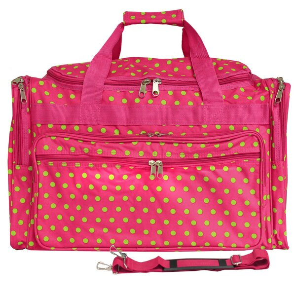 Polka Dot 22 Travel Duffel by World Traveler