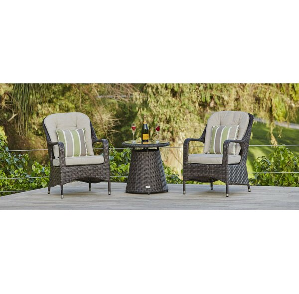 Ringler 3 Piece Bistro Set with Cushions