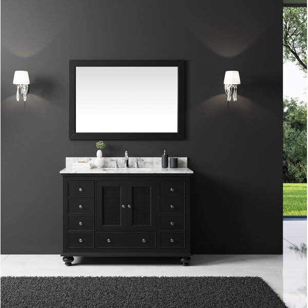 Larry 47 Single Bathroom Vanity Set with Mirror by Darby Home Co