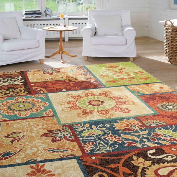 Clarence Brown/Red Area Rug by Threadbind