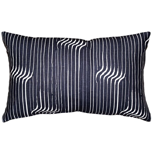 Gene Shockwave Linen Lumbar Pillow by Corrigan Studio