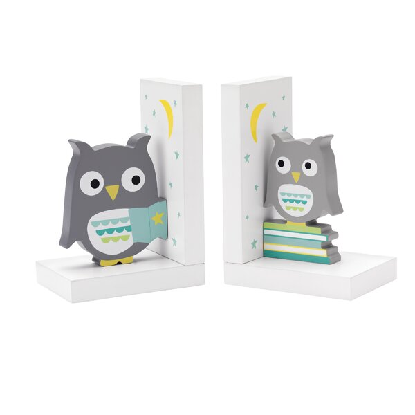 Hazelnut Hollow Owl Book Ends (Set of 2) by Reed & Barton