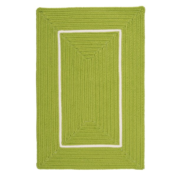 Doodle Edge Bright Green Border in Border Indoor/Outdoor Area Rug by Colonial Mills