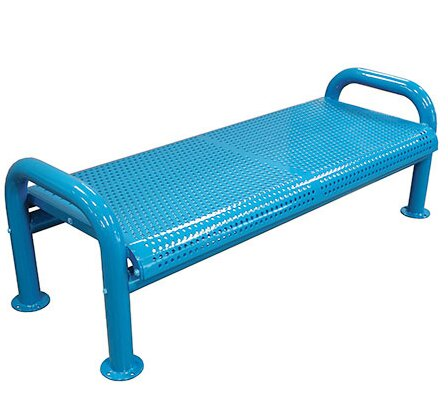 U-Leg Perforated Metal Picnic Bench by Leisure Craft