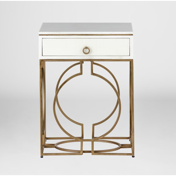 Cedric End Table With Storage By Gabby