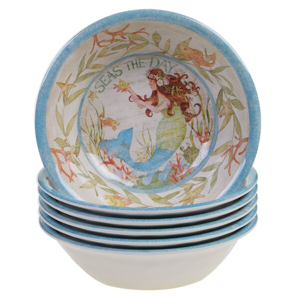 Griffin All Purpose Salad Bowl Set (Set of 6) by Rosecliff Heights