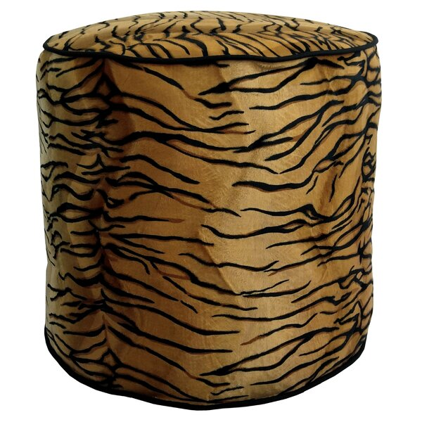 Tiger Upholstered Pouf by R&MIndustries