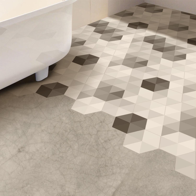 Triangles Hexagon Floor Decal