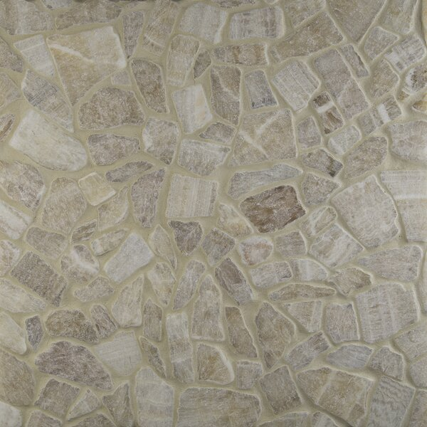 Honey Flat Meshed 16 x 16 Onyx Pebble Mosaic Tile in Yellow by MSI