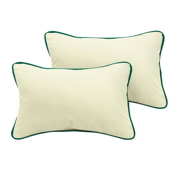 Sarasota Sunbrella Outdoor Lumbar Pillow (Set of 2) by Rosecliff Heights