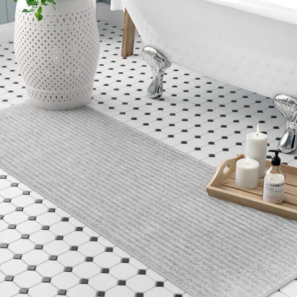 Lucille Bath Rug by Three Posts