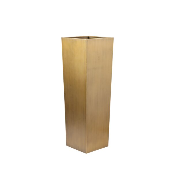 Diane Pedestal Steel Pot Planter by Brayden Studio