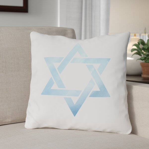 Star of David Throw Pillow by The Holiday Aisle