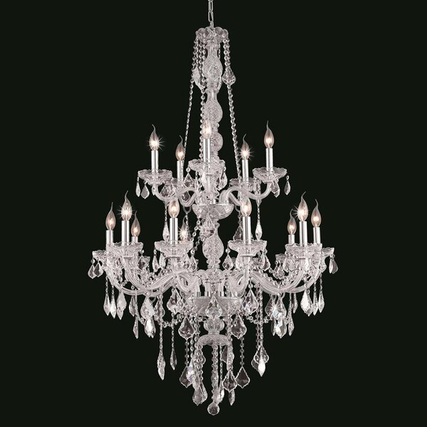 Doggett 15-Light Candle Style Tiered Chandelier By Astoria Grand