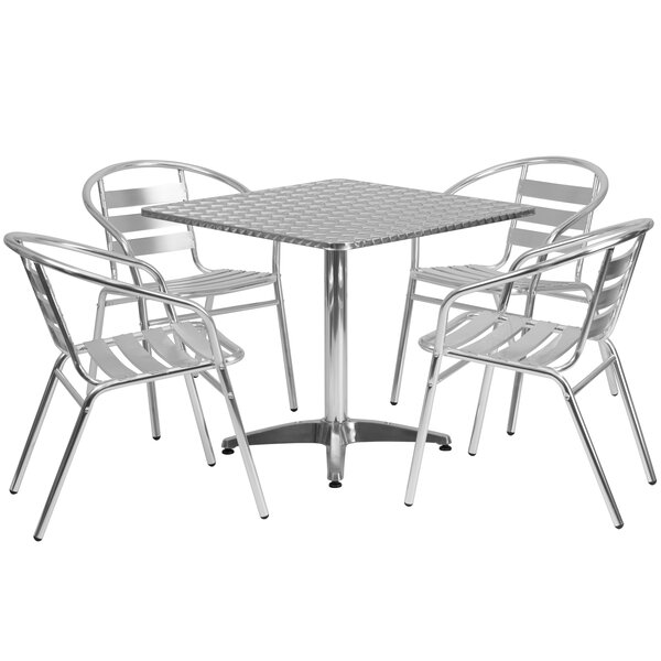 Humberwood 5 Piece Square Patio Seating Group by Mercury Row