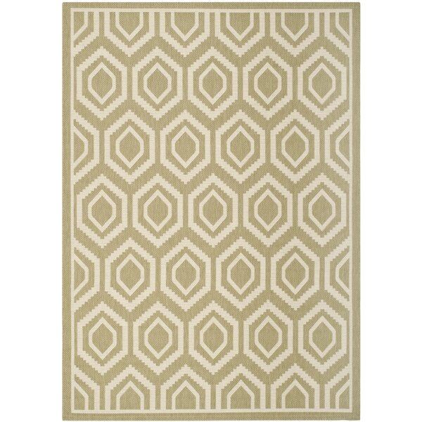 Catharine Green/Beige Indoor/Outdoor Area Rug by George Oliver