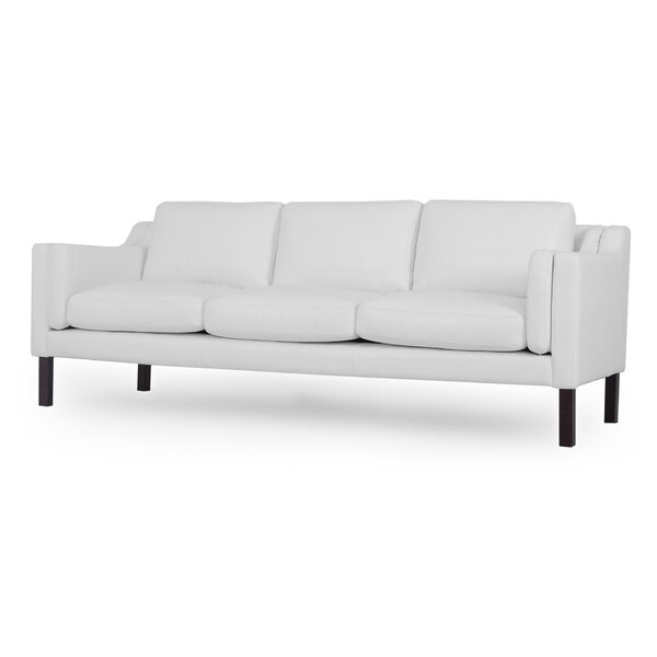 Rolando Mid-Century Leather Sofa by Corrigan Studio