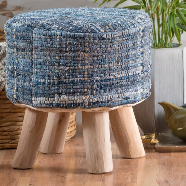 Wentworth Bogan Fabric Round Accent Stool by Bloomsbury Market