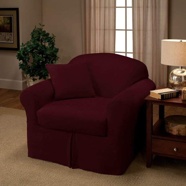 Microsuede Box Cushion Armchair Slipcover by Madison Home