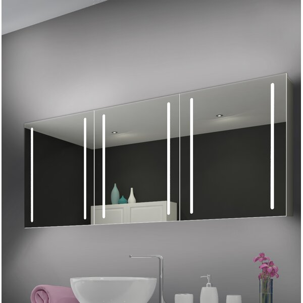 Ketterman Modern Lighted With Shelves Mirror