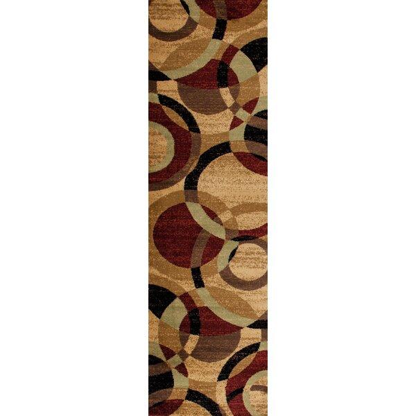 Allison Black/Burgundy Area Rug by Ebern Designs
