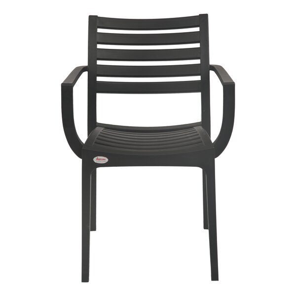 Weingarten Commercial Stacking Patio Dining Chair by Ebern Designs