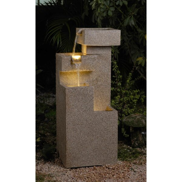 Tiered Fountain with Light by Jeco Inc.
