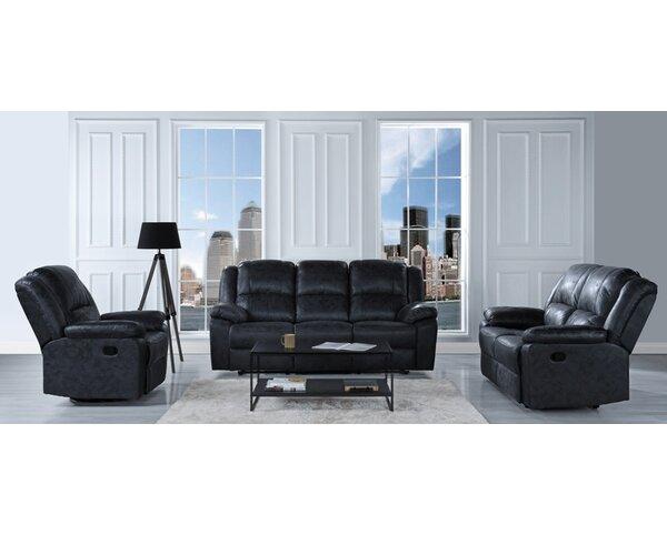 Bramhall Reclining 3 Piece Living Room Set by Winston Porter