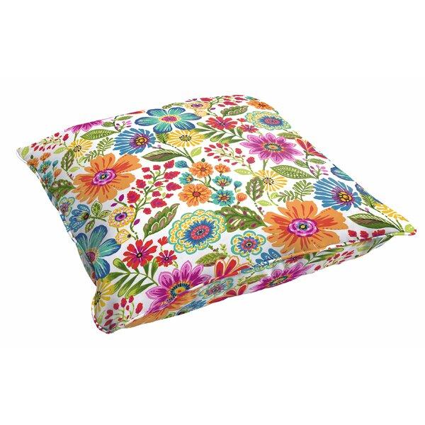Paxton Floral Indoor/Outdoor Floor Pillow by Andover Mills