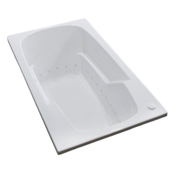 Anguilla 58.5 x 35.5 Rectangular Air Jetted Bathtub with Drain by Spa Escapes