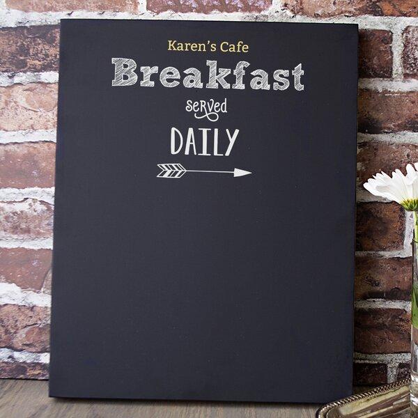 Personalized Breakfast Menu Chalkboard by Cathys Concepts