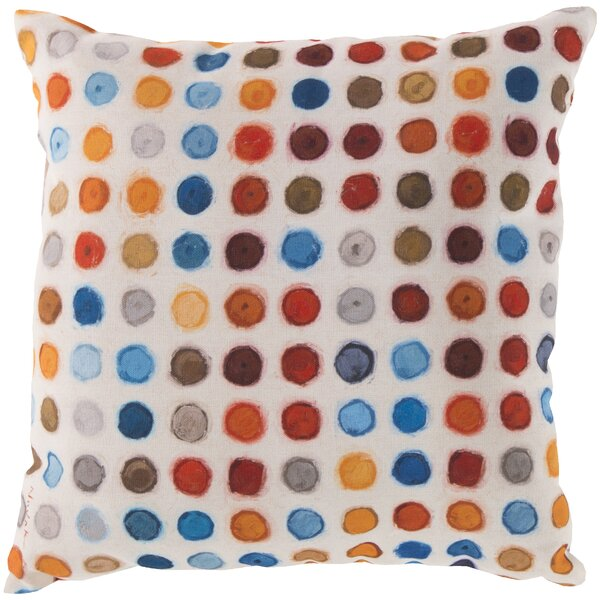Kelston Surrounded by Circles Outdoor Throw Pillow by Latitude Run