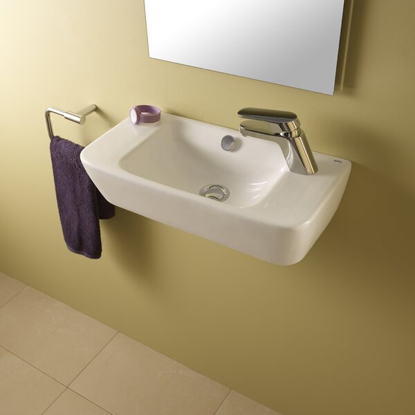 Emma Ceramic 20 Wall Mount Bathroom Sink with Overflow by Bissonnet
