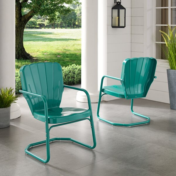 Karim Patio Dining Chair (Set of 2) by Wrought Studio