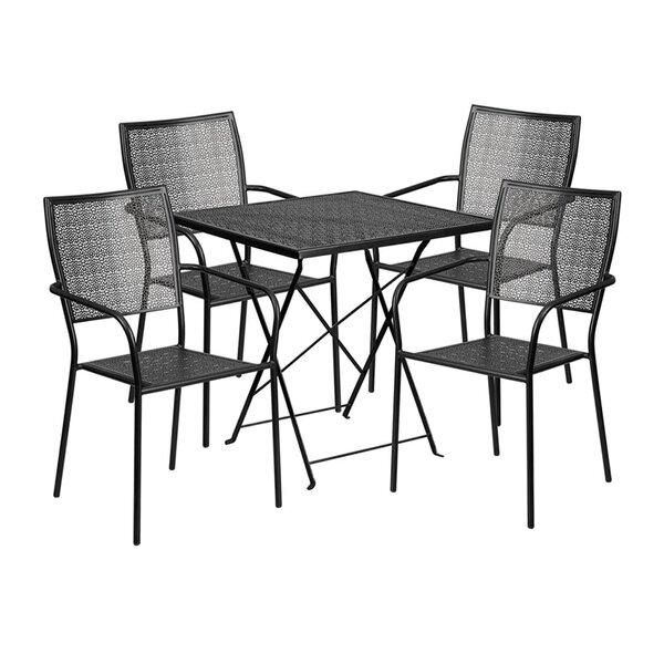 Speedwell Outdoor Steel 5 Piece Dining Set