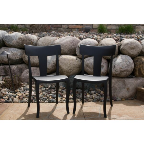 Axtell Stacking Patio Dining Chair (Set of 2) by Gracie Oaks