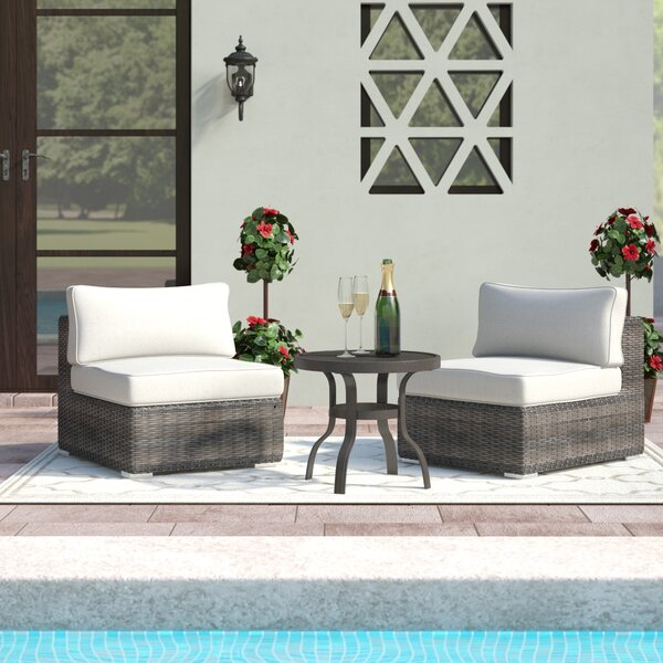 Eldora 2 Piece Seating Group with Cushions by Sol 72 Outdoor