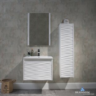 Savings Artesian 24.5 Single Bathroom Vanity Set with Mirror By Ivy Bronx