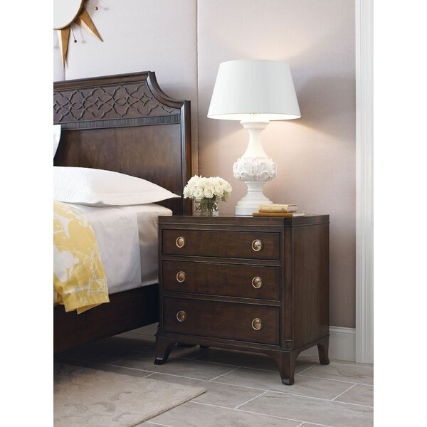 Bordeaux 3 Drawer Nightstand by Canora Grey
