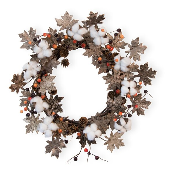 Falling Leaves 18 Cotton Wreath by The Holiday Aisle