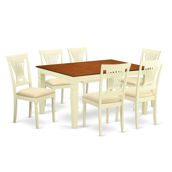 Royalston 7 Piece Dining Set by Rosecliff Heights