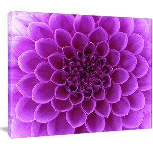 'Light Purple Abstract Flower Petals' Graphic Art on Wrapped Canvas by Design Art