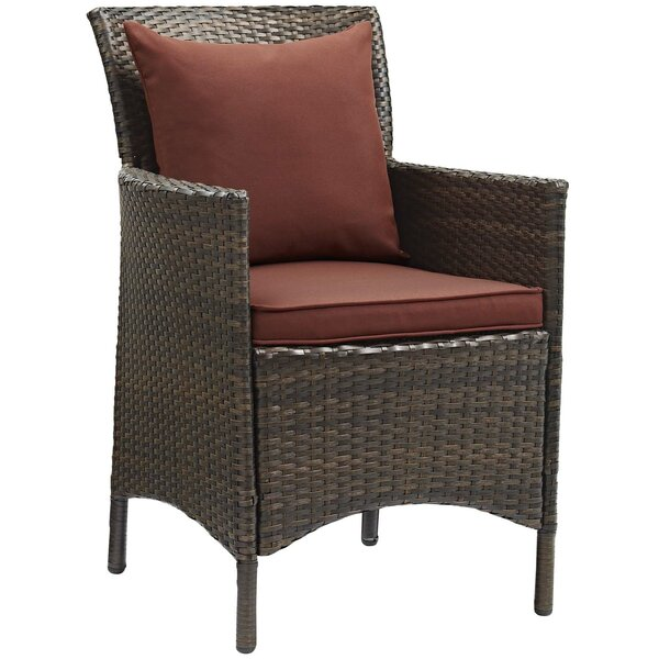 Solomon Patio Dining Chair with Cushion by Bayou Breeze