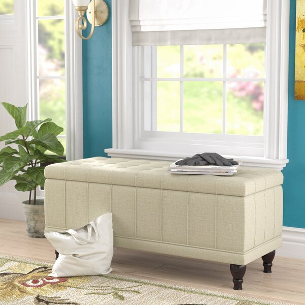 Gilberts Upholstered Flip Top Storage Bench By Darby Home Co