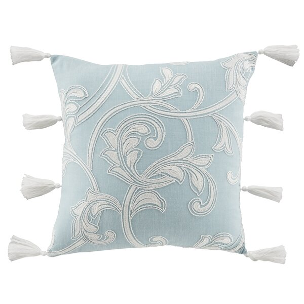 Willa Square Cotton Throw Pillow by Croscill Home Fashions